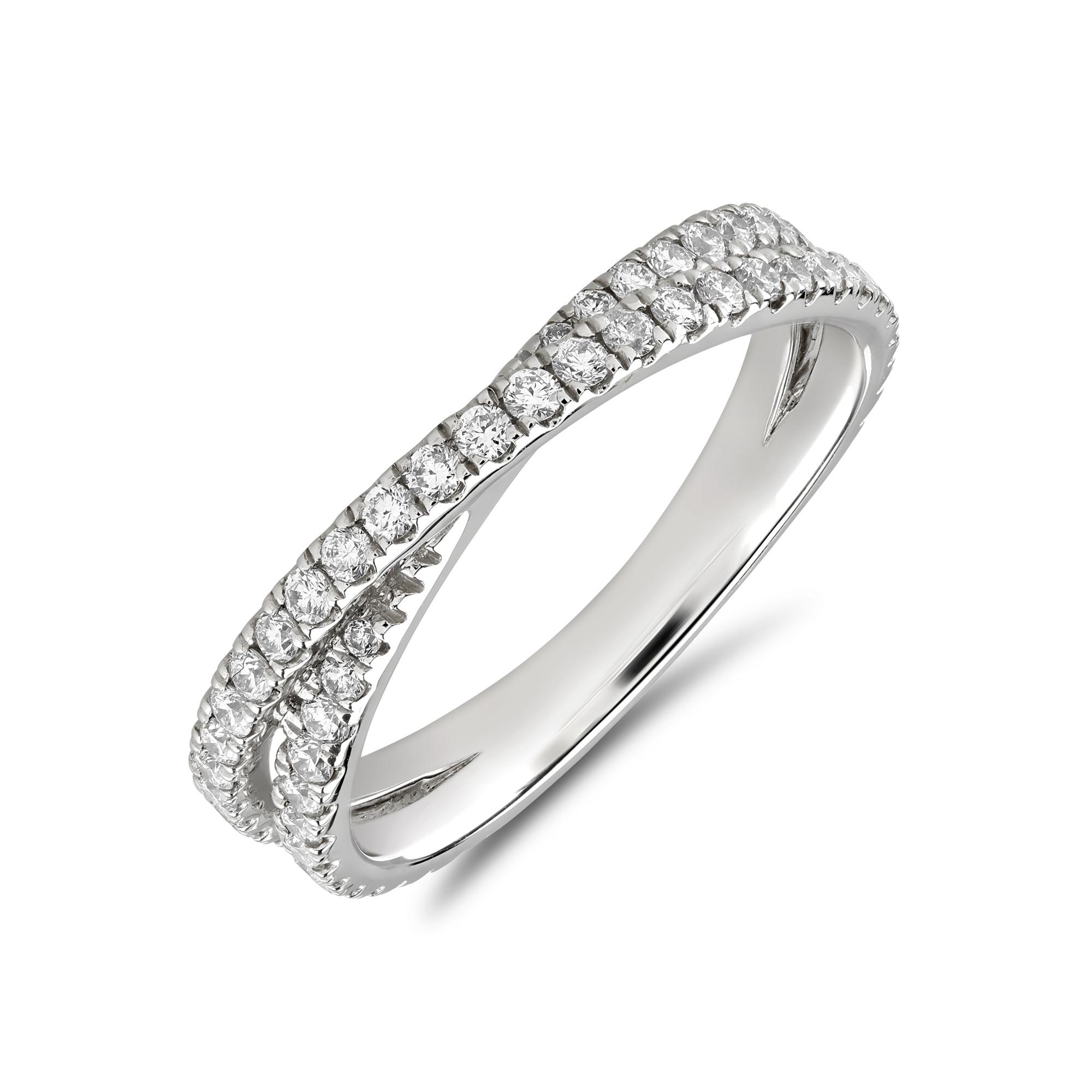 Platinum Diamond Twist Eternity Ring