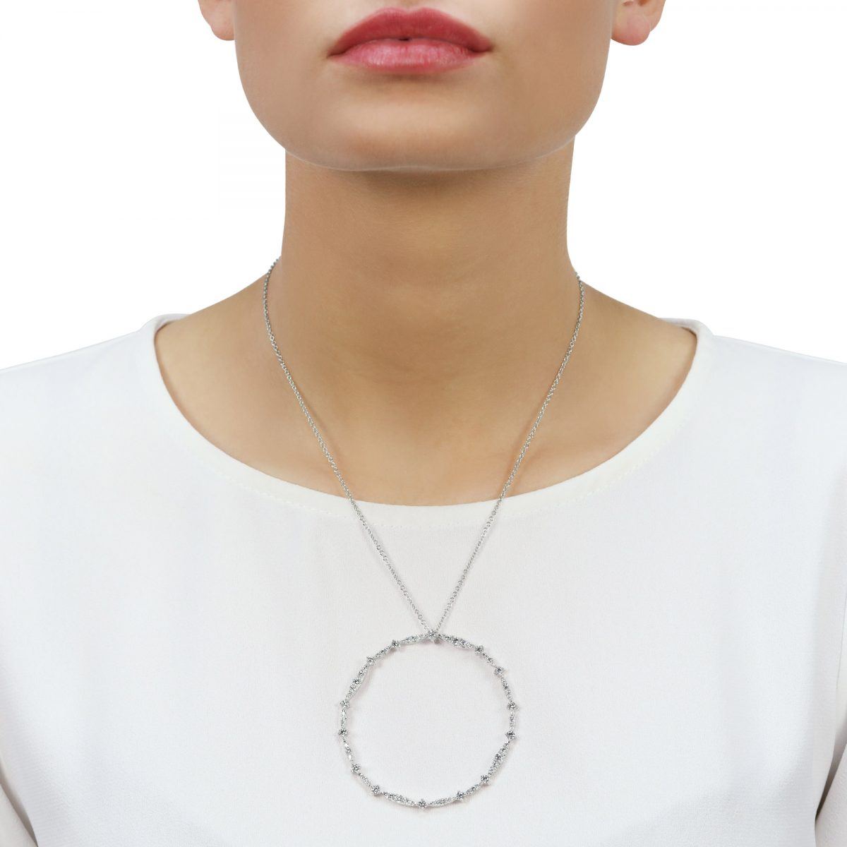 Eclipse White Gold Diamond Pendant