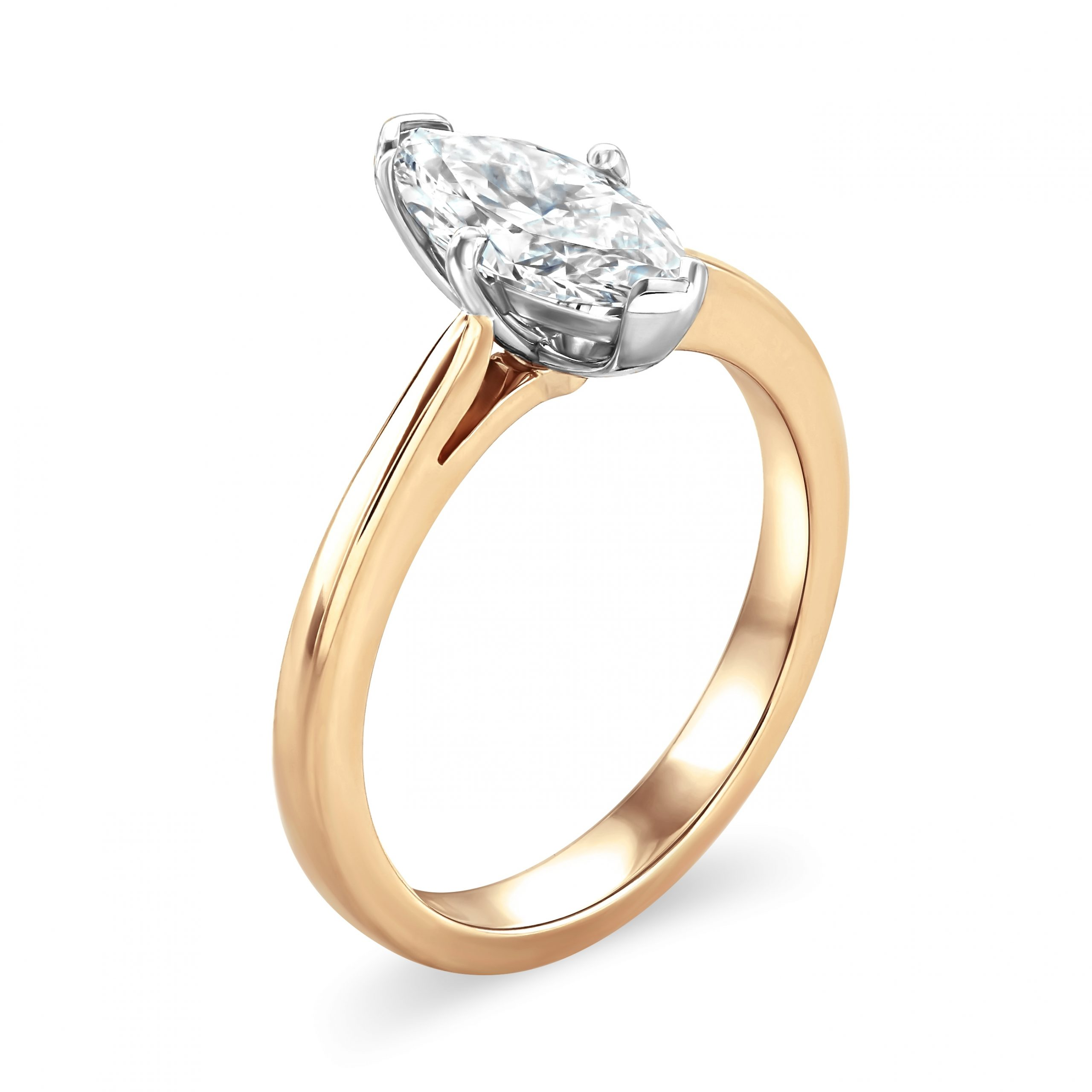 Marquise Cut Rose Gold Diamond Ring