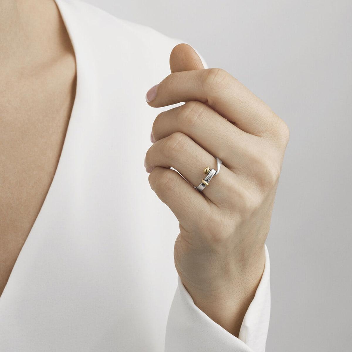 Sterling Silver & Yellow Gold Torun Ring