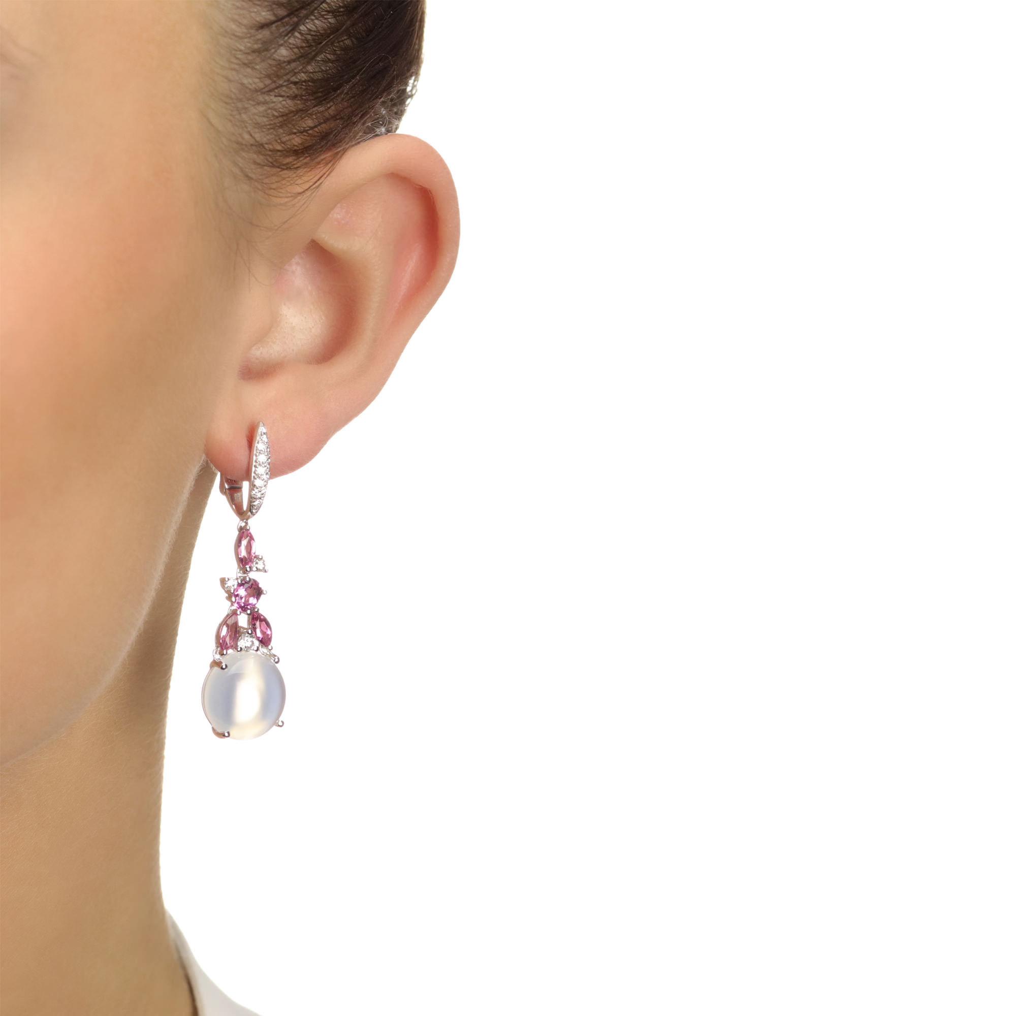 Tourmaline Moonstone Earrings