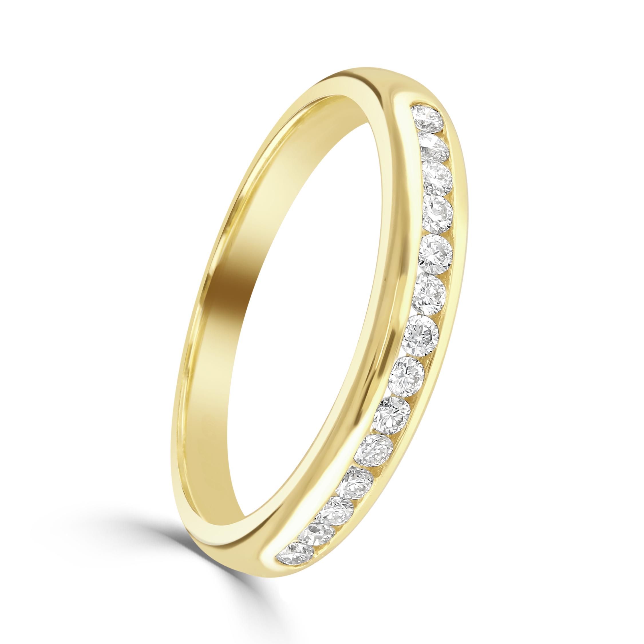 Yellow Gold Diamond Set Eternity Ring
