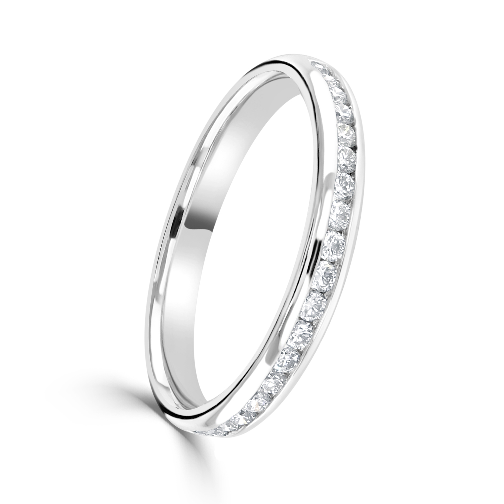 Platinum Diamond Set Eternity Ring
