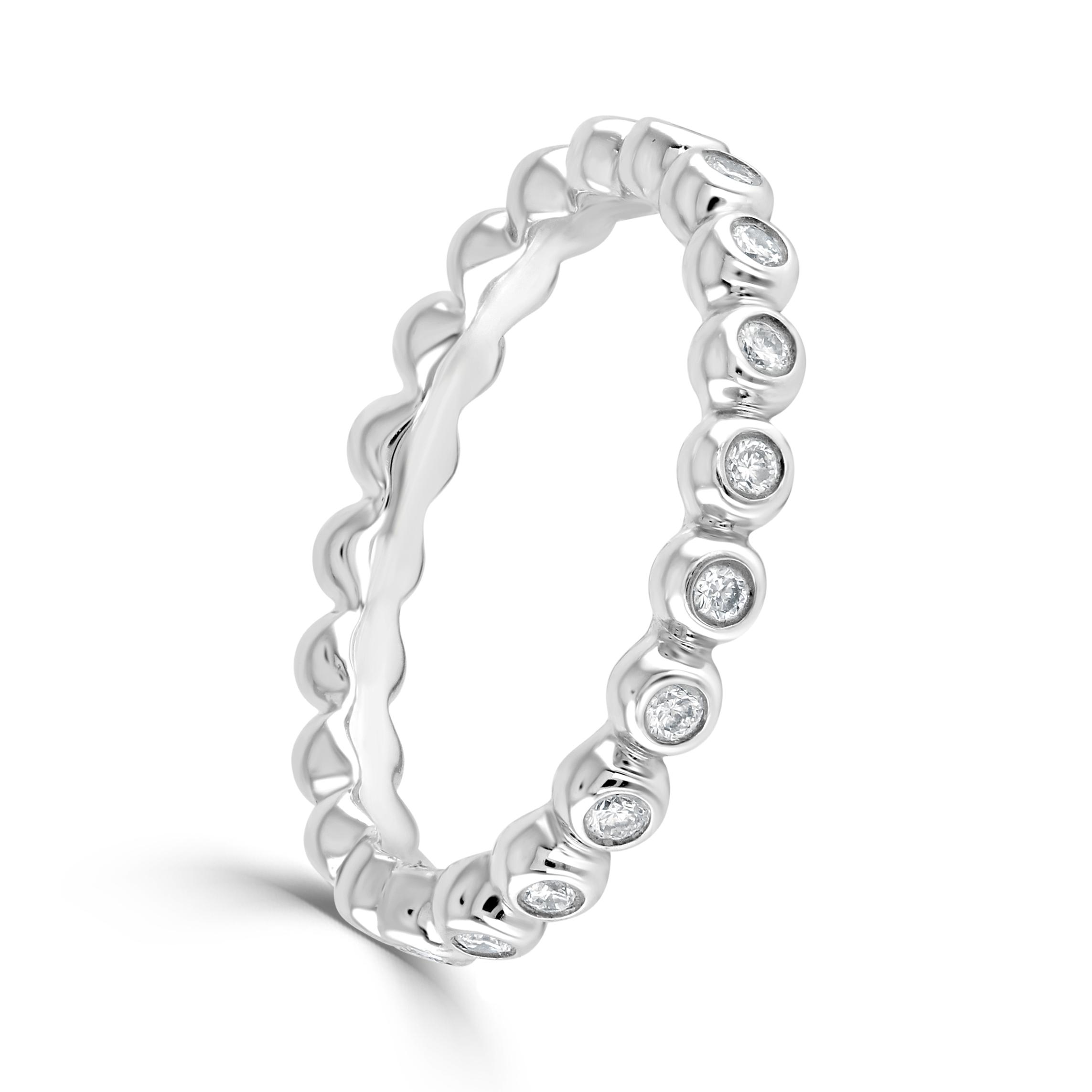 Aurora White Gold Ring