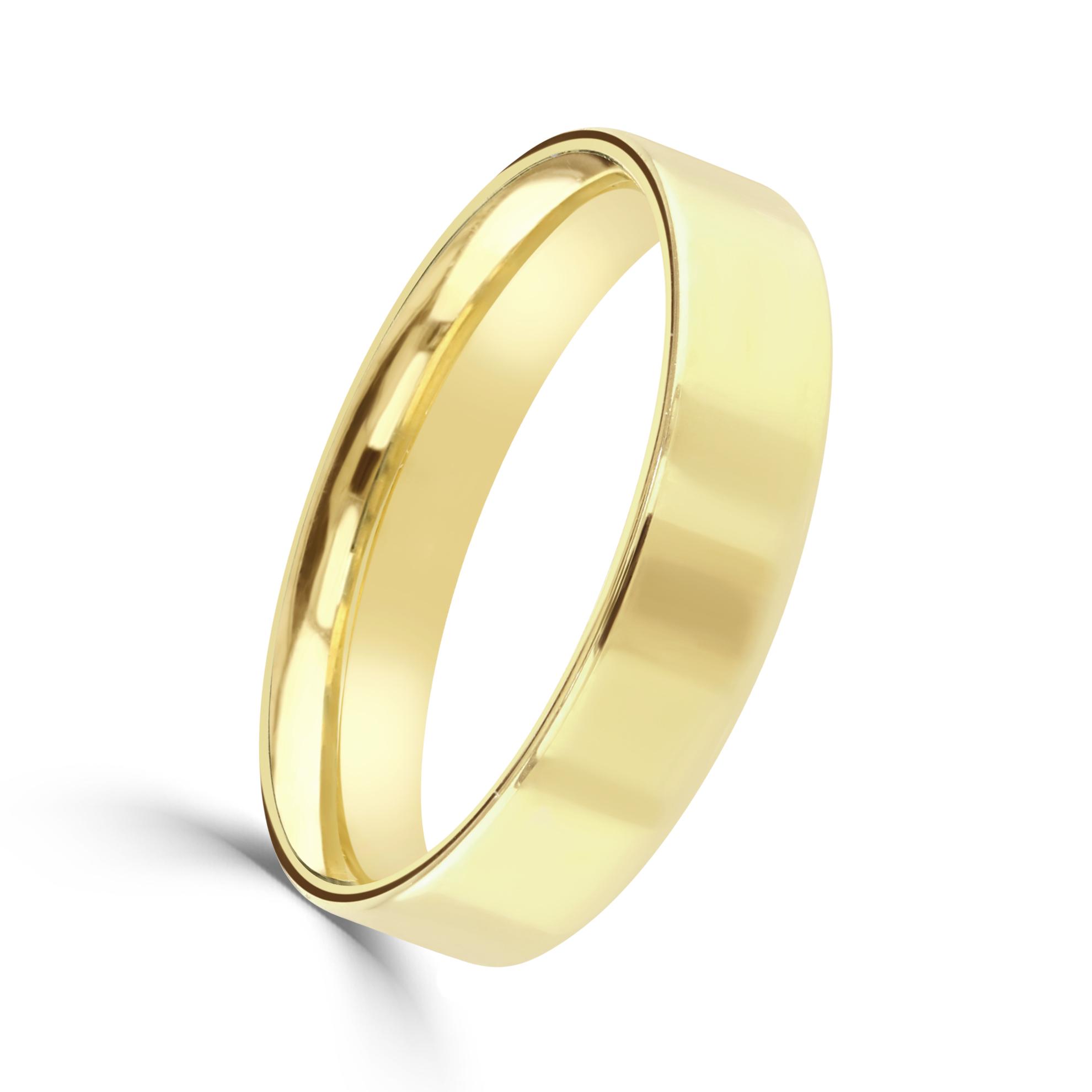 Yellow Gold Gents Wedding Ring