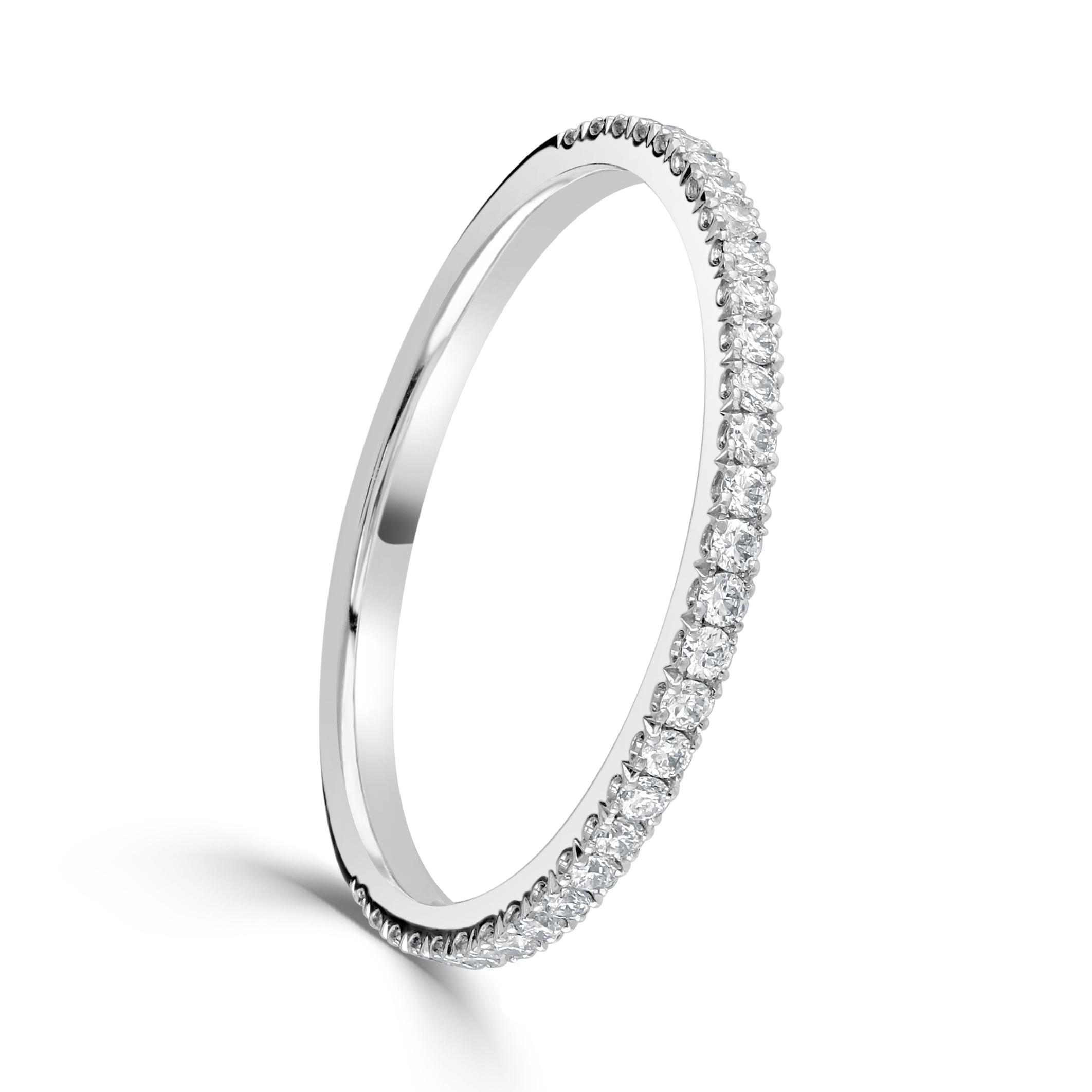 White Gold Diamond Set Fine Eternity Ring