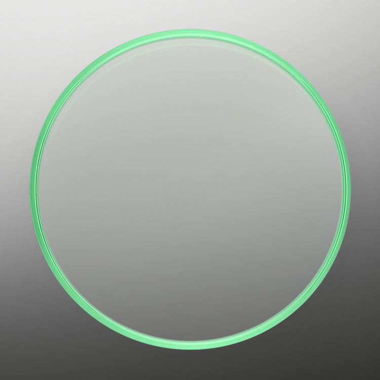 Green sapphire crystal