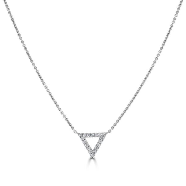 Helena White Gold Diamond Triangle Pendant