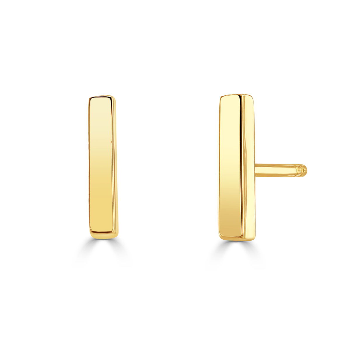 Polished yellow gold earrings