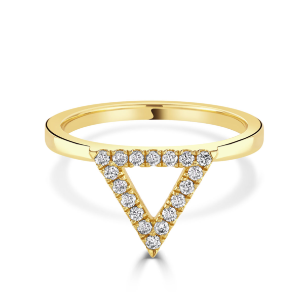 Helena Yellow Gold Diamond Triangle Ring