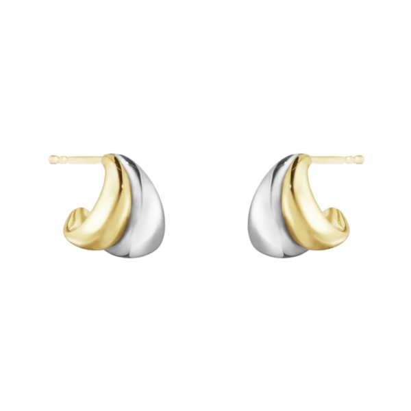 Curve Sterling Silver & 18ct Yellow Gold Earrings