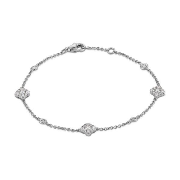 Josephine White Gold Diamond Bracelet