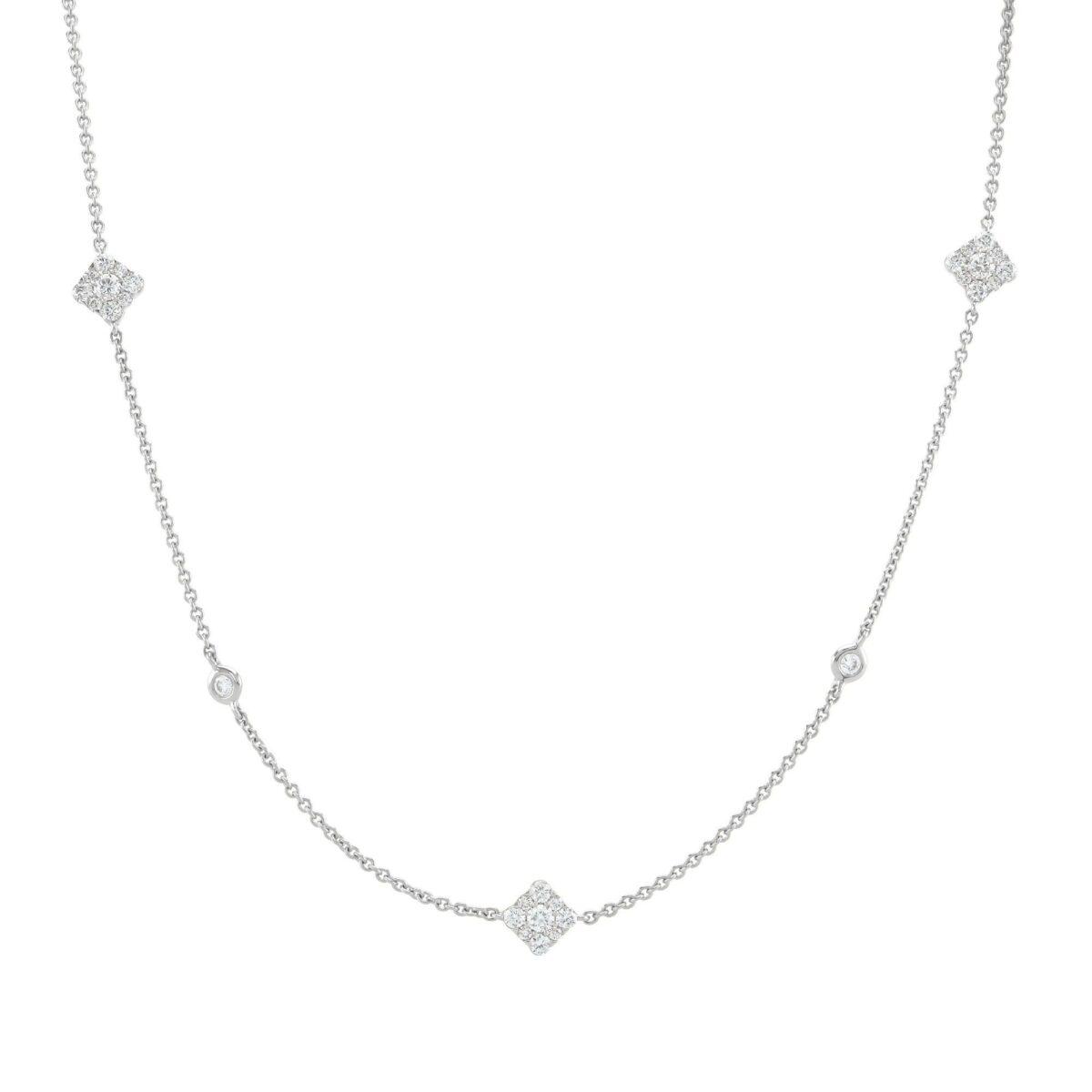 Josephine White Gold Diamond Necklace