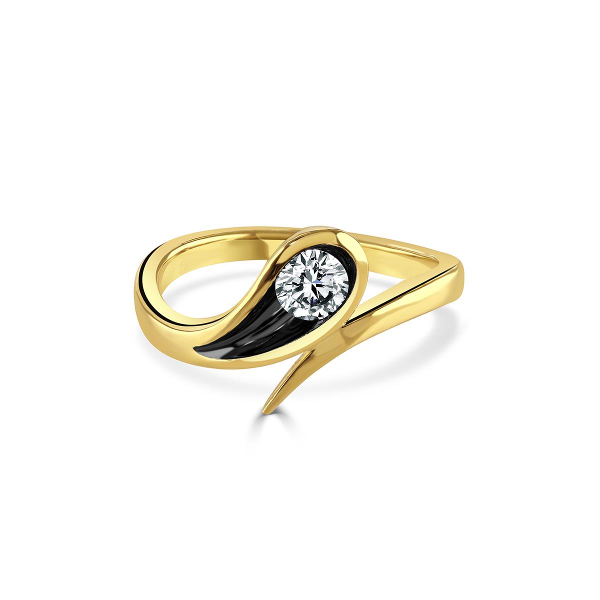 Stella Yellow Gold Diamond Ring