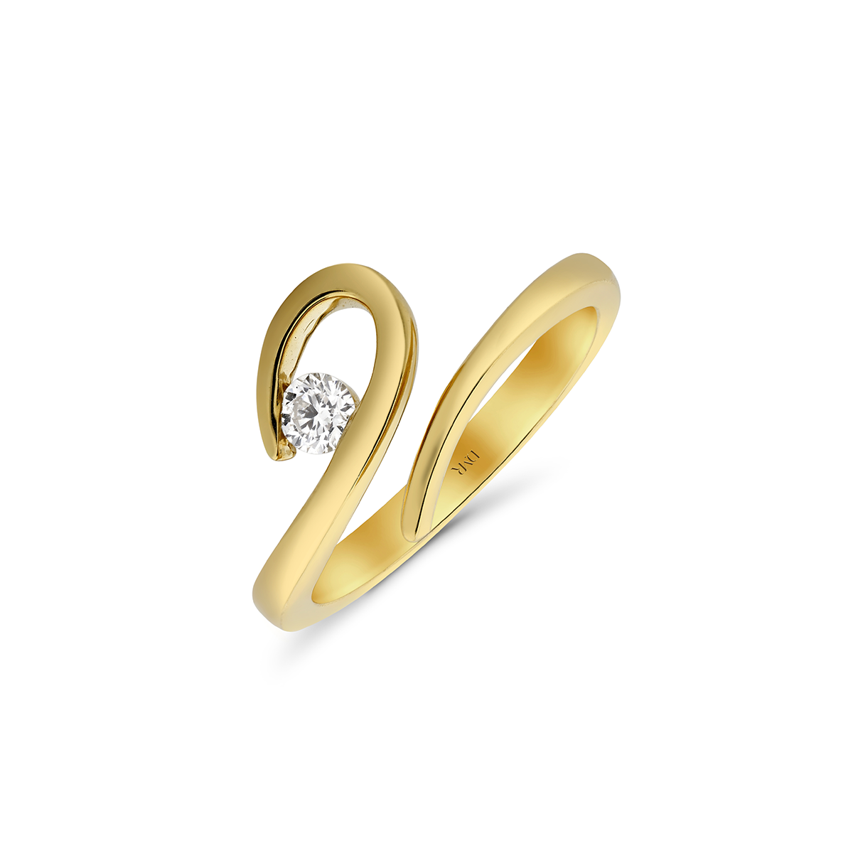 You're The One Yellow Gold Diamond Ring