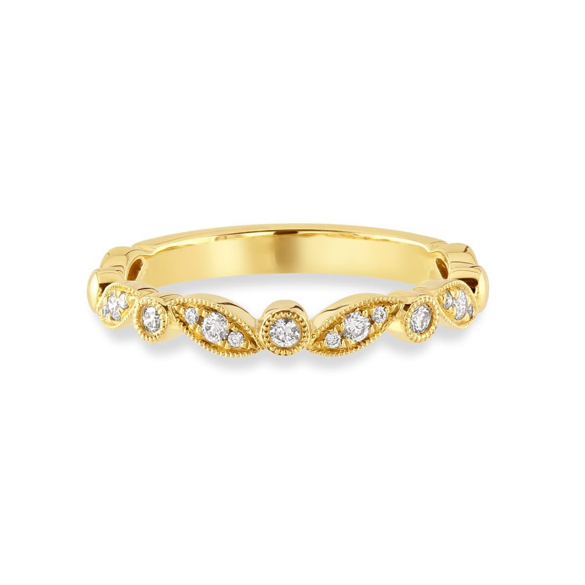 Yellow Gold Diamond Stacking Ring