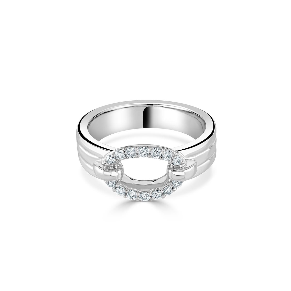 White Gold Diamond Circle Ring