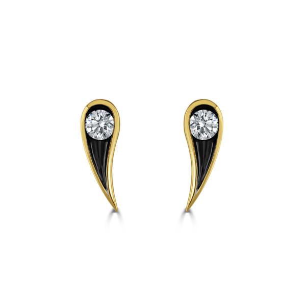 Stella Yellow Gold Diamond Earrings
