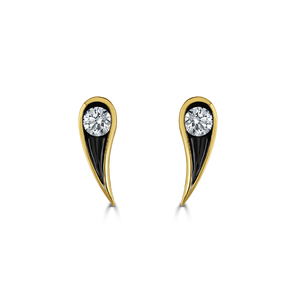 Stella Yellow Gold Diamond Earrings