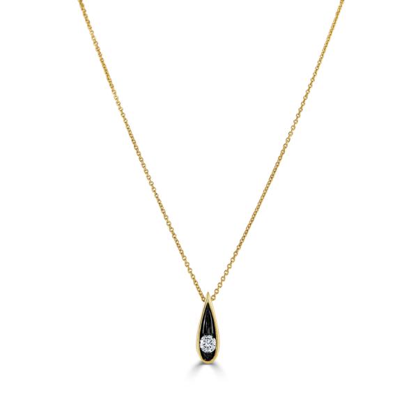 Stella Yellow Gold Diamond Necklace