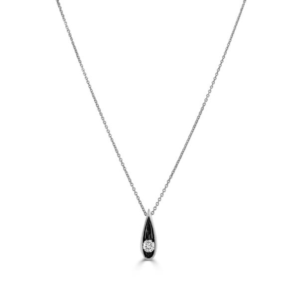 Stella White Gold Diamond Necklace