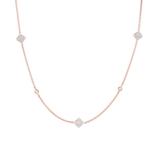 Josephine Rose Gold Diamond Necklace