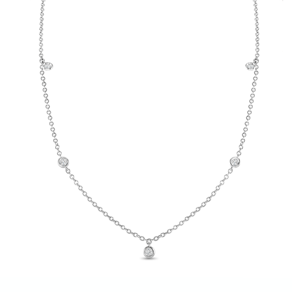 Spectacle Set White Gold Diamond Necklace