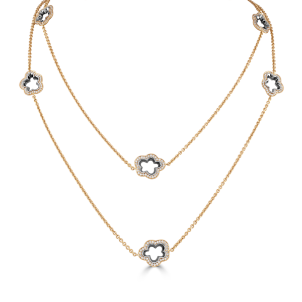 Silver Lining Rose Gold Long Necklace