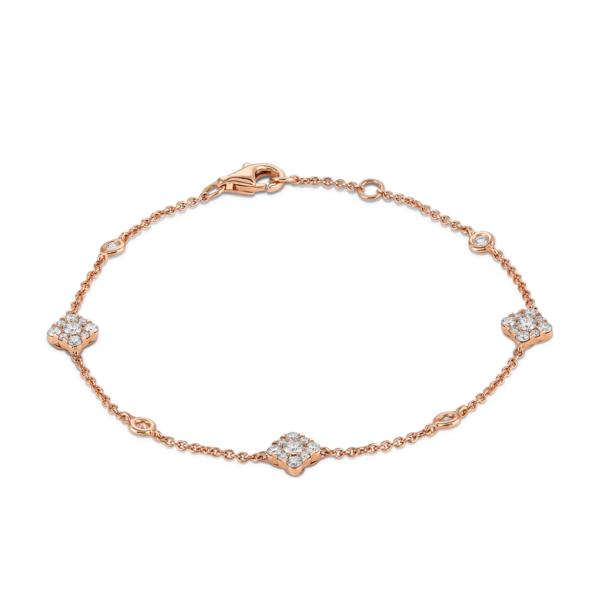 Josephine Rose Gold Diamond Bracelet