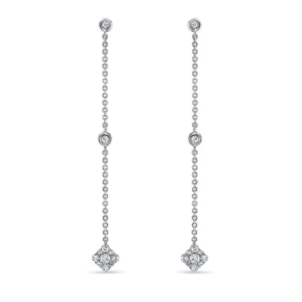 Josephine White Gold Diamond Earrings
