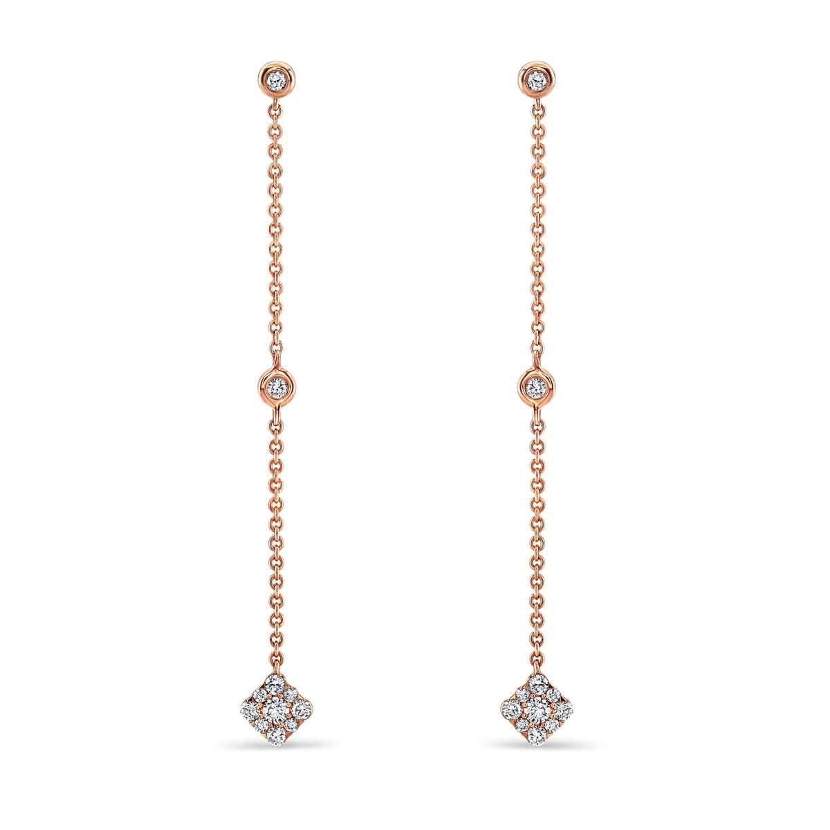 Josephine Rose Gold Diamond Earrings