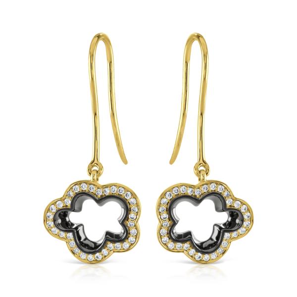 Silver Lining Yellow Gold Drop Earrings