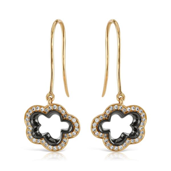 Silver Lining Rose Gold Drop Earrings