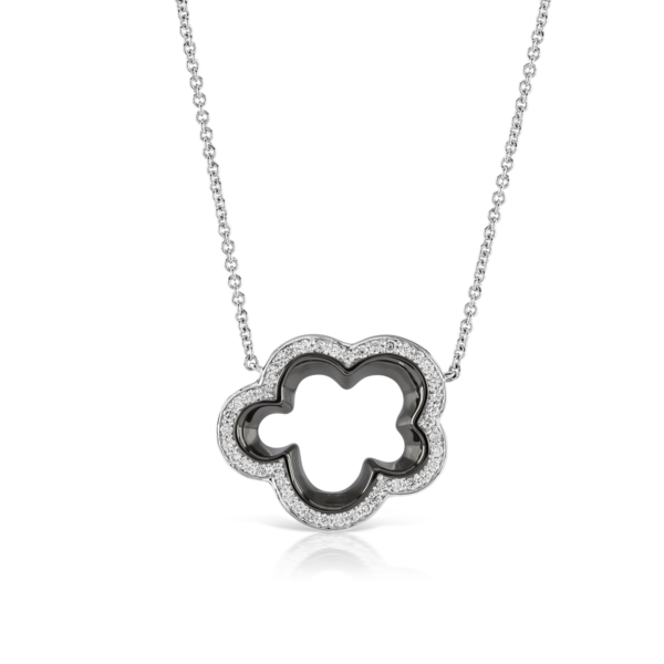 Silver Lining White Gold Diamond Pendant