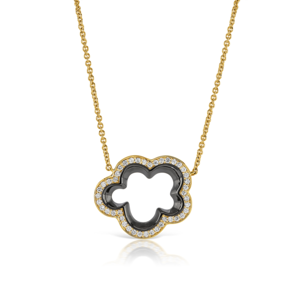 Silver Lining Yellow Gold Diamond Pendant