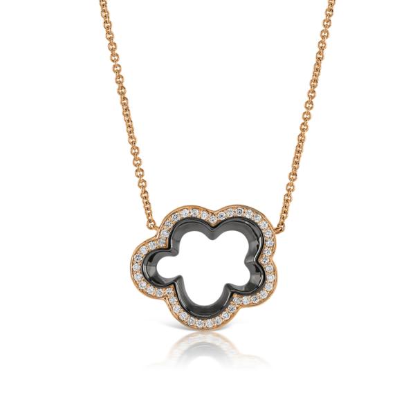 Silver Lining Rose Gold Diamond Pendant