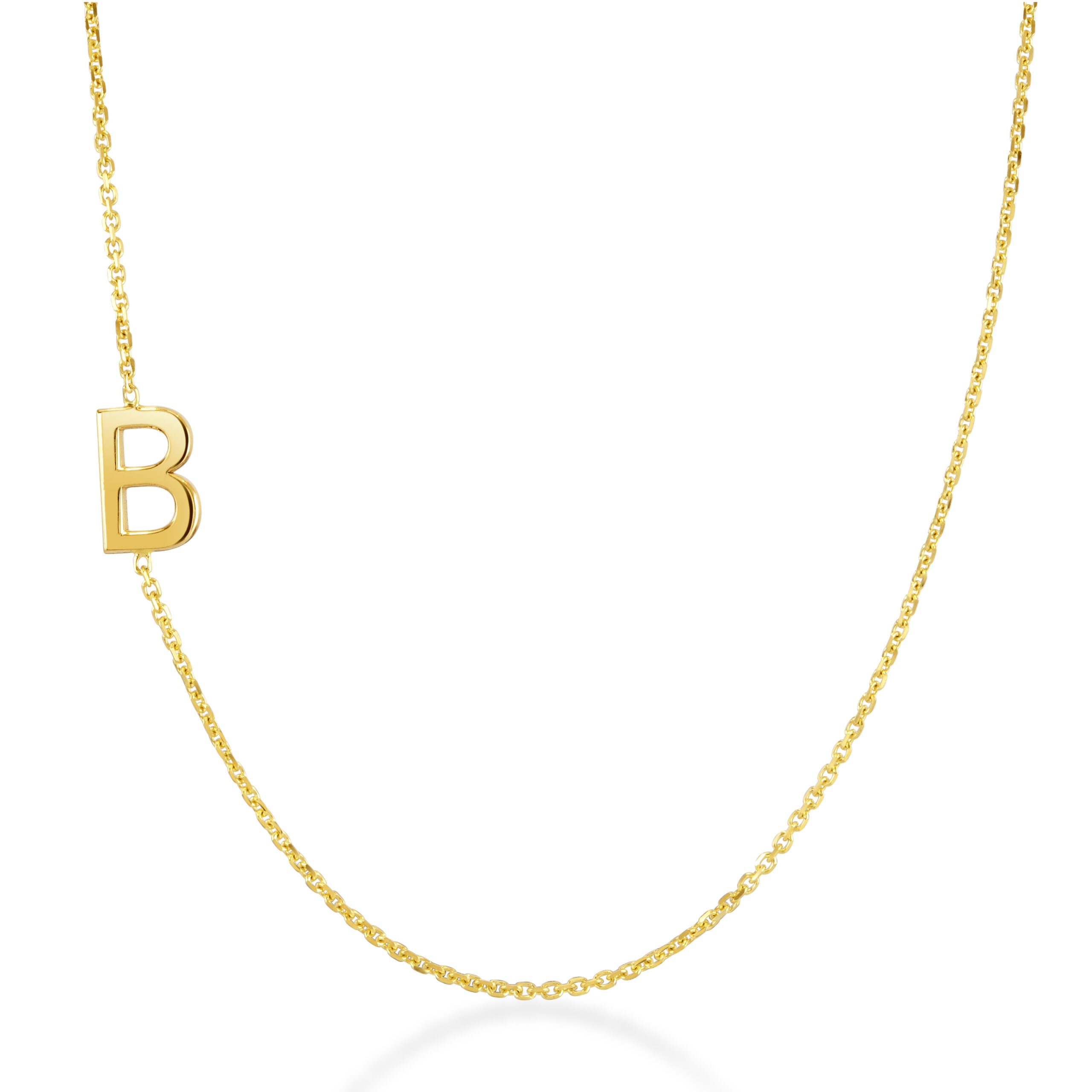 Initial Yellow Gold Necklace