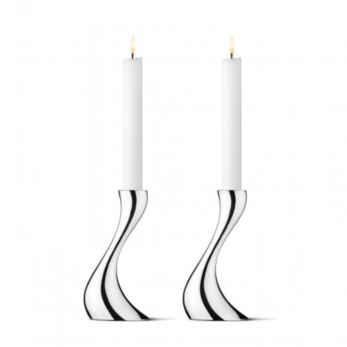 Georg Jensen Cobra Candle Holders Set of 2