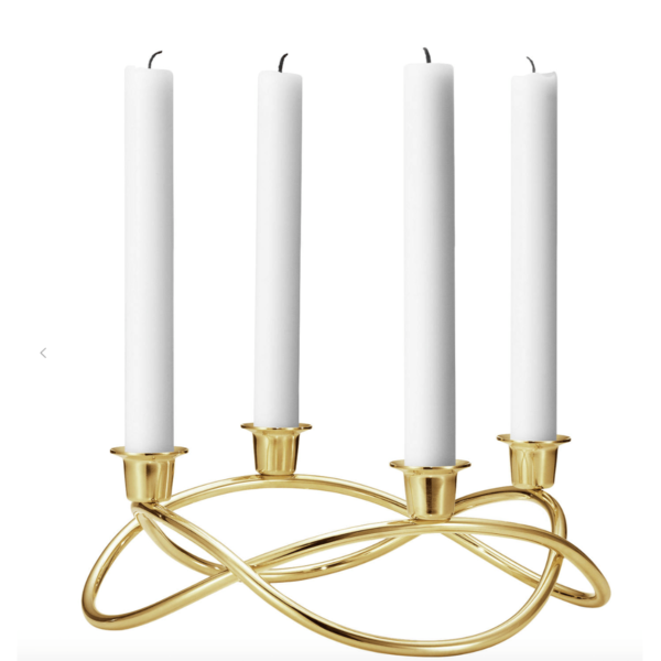 Georg Jensen Yellow Gold Plated Steel Candle Holders