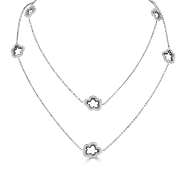 Silver Lining White Gold Diamond Long Necklace