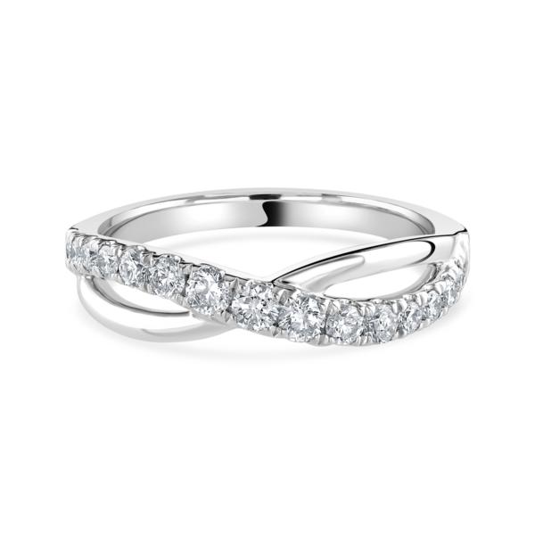 Platinum Full Twist Diamond Ring