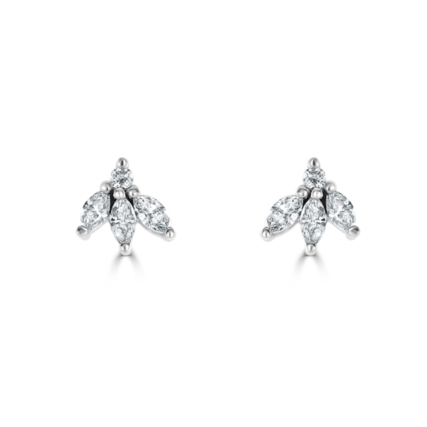 Snowdrops White Gold Diamond Earrings