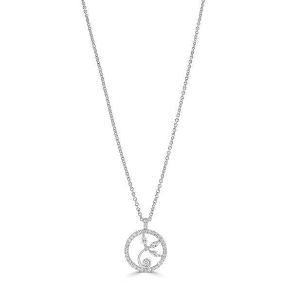 Snowdrops Platinum Diamond Pendant