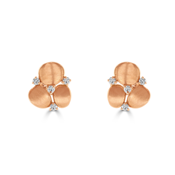 Stepping Stone Rose Gold Earrings