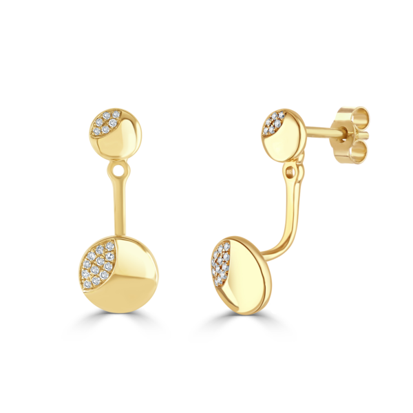 Rose Gold and Diamond Ear Jackets