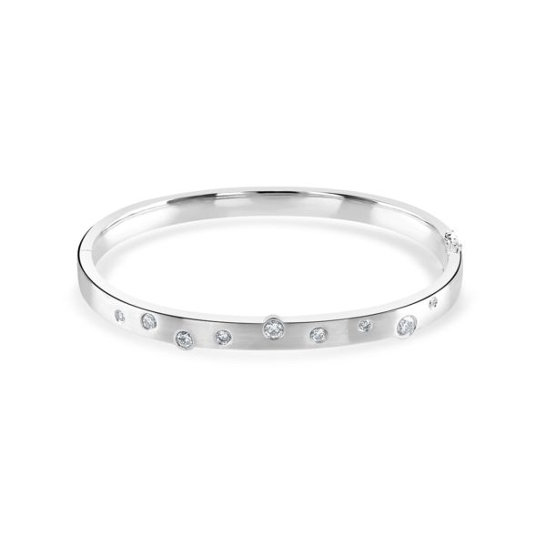 Cloud Nine White Gold Diamond Bangle