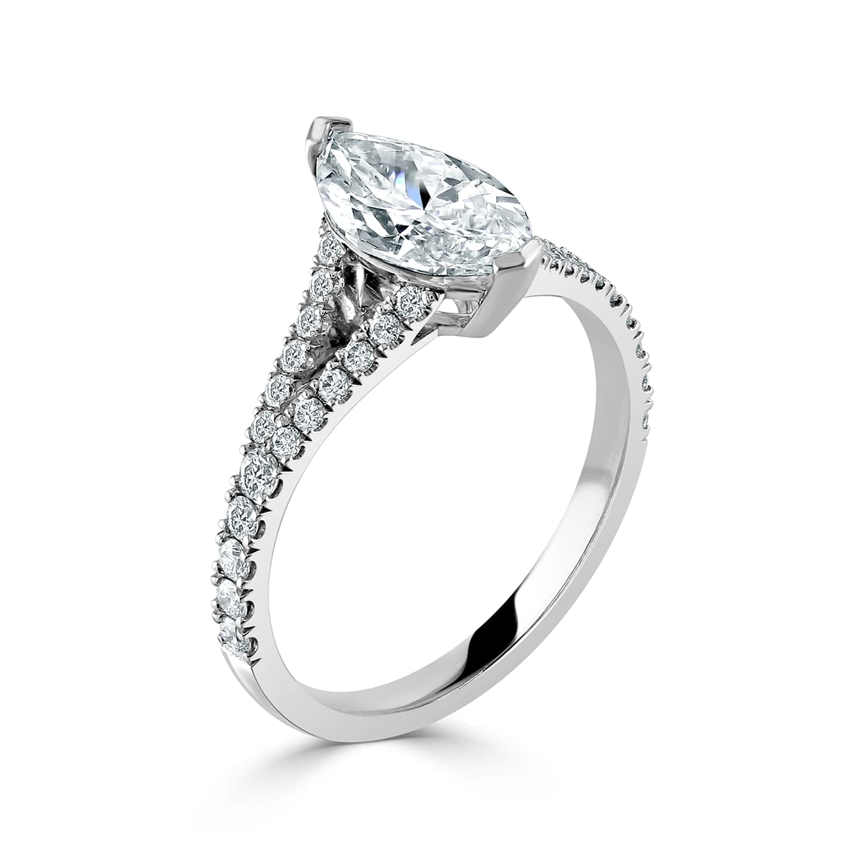 Marquise Cut White Gold Diamond Ring