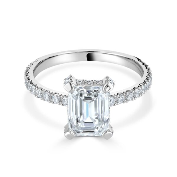 Emerald Cut Platinum Diamond Ring