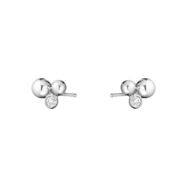 Moonlight Grapes Sterling Silver & Diamond Earrings