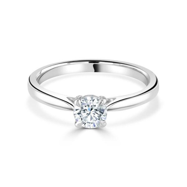 Round Brilliant Cut Platinum Ring